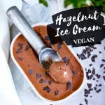 Vegane Haselnuss-Schoko Eiscreme